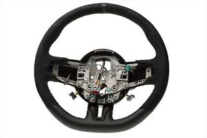 2015 2016 Ford Mustang Shelby Gt350 Steering Wheel Black Leather Oem Fr3z3600ac