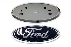 2011 2014 Ford Edge Front Grille Blue Emblem Chrome Grill Holder Mount Oem New