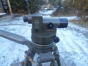 Rare Vintage German Military Ertel Theodolite Optic Level Construction Survey