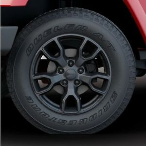 Mopar 82219010ab Jeep Wrangler 18 Jet Black Wheel