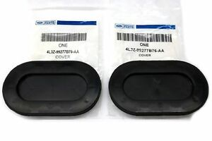 1997 2014 Ford F150 Truck Bed Front Black Oval Drain Plug Cover Cap Pair Set Oem