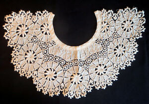 Victorian White Lace Collar Worn In 1881 In St Louis