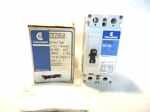 New In Box Challenger Ce2060 2 Pole 60 Amp Circuit Breaker
