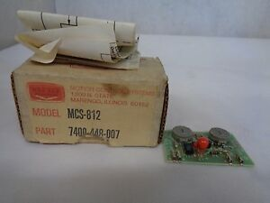 New Warner Electric Mcs 830 Multifunctional Timer Plug Module 7400 448 018