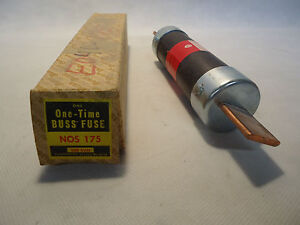 New In Box One time Buss Fuse Nos 175 Fuse