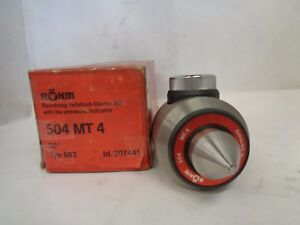 New Rohm 6521 504 mt4 Revolving Tailstock Center Ac With Lbs Pressure Indicator