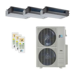 Perfect Aire 48k Btu 21 5 Seer Tri Zone Heat Pump Concealed Duct