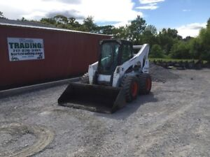 2014 Bobcat S850 Skid Steer Loader W Cab Joysticks High Flow