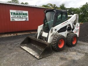 2010 Bobcat S650 Skid Steer Loader W Cab High Flow