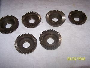 Lot Of 6 Fellows Hss Gear Shaper Cutters Various Sizes