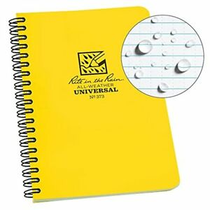Rite In The Rain All weather Side spiral Notebook 4 5 8 X 7 Yellow Cover