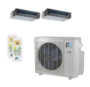 Perfect Aire 27k Btu 22 Seer Dual Zone Heat Pump Concealed Duct