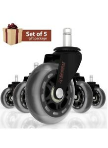 Office Chair Wheels Gift Set Of 5 For Save All Types Of Flooring 3 Heavy Duty