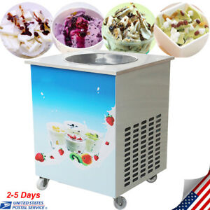 1050w Single Round Pan Fried Ice Cream Roll Machine 110v 60hz 36cm Pan Size Fda