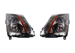 New Set Of 2 Halogen Headlights For 2008 2014 Cadillac Cts Gm2502309 Gm2503309