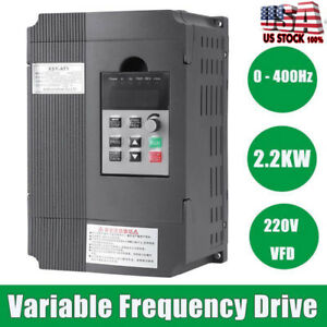 2 2kw 220v 12a Variable Frequency Drive Vfd 3 phase Ac Motor Is Speed Controller