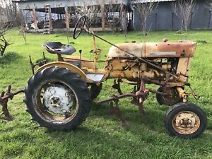 Ih Farmall Cub Tractor With Full Set Of 144 Cultivators Field Ready
