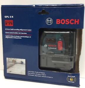 new Bosch Gpl 5 R 5 point Self Leveling Alignment Laser