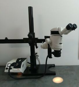 Leica Microscope Mz16 Stereozoom With Tilting Head And Operating Boom Stand