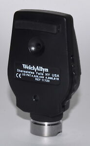 Welch Allyn 3 5 V Coaxial Ophthalmoscope Head Model 11720 used