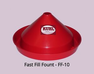 Fast Fill Fount Chicken Waterer Game Bird Waterer Easiest To Fill Waterer