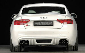 Audi B8 A5 S line S5 Genuine Rieger S line Rear Apron Spoiler New 2008 2012 New