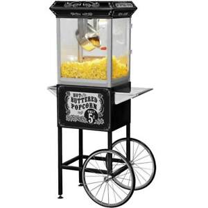 Funtime Full Size Carnival Style 8 Oz Hot Oil Popcorn Machine Cart id 166861