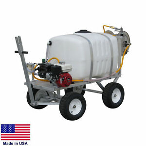 Sprayer Commercial Trailer Mounted 100 Gallon Tank 9 5 Gpm 580 Psi Mhr