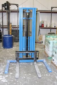 Eoslift 3300 Lbs Semi automatic Pallet Stacker Forklift used Maybe 6x From New