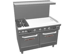 Southbend 48 Ultimate Range W 36 Man Griddle 2 Space Saver Ovens