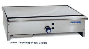 Imperial Range Ity 48 48 Stainless Gas Teppan yaki Griddle W 1 Burner
