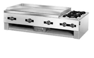 Comstock Castle 10201 30 Wide Countertop Griddle 2 Open Burner Combo