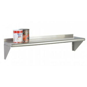 Focus Foodservice Fwsss1236 12in X 36in Stainless Steel K d Wall Shelf Kit