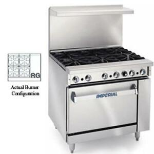 Imperial Range 36in Restaurant 4 Gas Burner Range W 12in Griddle