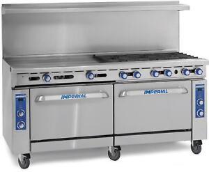 Imperial Range 60in Restaurant Range 4 Gas Burner W 36in Griddle