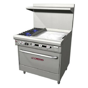 Southbend 36 Ultimate Range Gas electric 2 Burners 24 Griddle 1 Rack