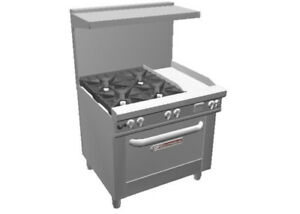 Southbend 4361a 1g Ultimate 36 Range W 4 Burners Conv Oven 12 Griddle