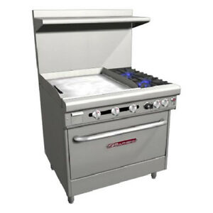 Southbend 36 Ultimate Gas electric Range 2 Burners 24 Griddle 3 Rack