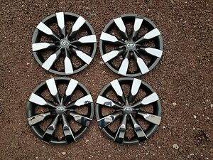 1 Set Of 4 2014 2015 2016 Corolla 16 Hubcaps Wheel Covers Charcoal Chrome 61172