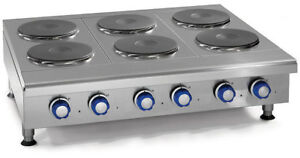 Imperial Range Ihpa 6 36 e 36 Countertop Electric Hotplate With 6 2kw Burners