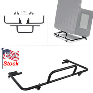 Hardtop Storage Cart Textured Black Steel For 86 18 Jeep Wrangler Yj Tj Jk Jl