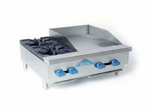 Comstock Castle 36 Wide Counter Top Combo W 2 Open Burners 24 Griddle