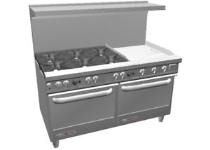 Southbend S60dd 2t S series 60 Range W 24 Therm Griddle 2 Standard Ovens