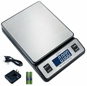 Weighmax 90 Lb X 0 1 Oz Durable Stainless Steel Digital Postal Scale