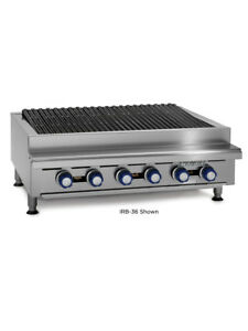 Imperial Range Irb 24 24 Commercial Gas Radiant Char Broiler Grill Counter Top