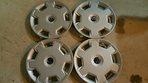 Set Of 4 15 Inch Hubcaps Wheel Covers For Vw Volkswagon Jetta Passat Golf Beetle