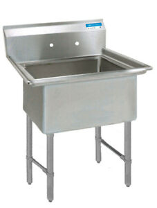 Bk Resources Bks 1 24 14s 24 x24 x14 One Compartment Sink W S s Legs