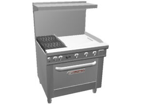 Southbend 4362d 2t Ultimate 36 Range W Oven Wavy Grates 24 Therm Griddle