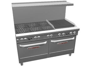 Southbend Ultimate Range W 24 Charbroiler Wavy Grates 2 Conv Oven