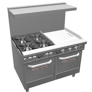Southbend 4483ee 2g 48 Ultimate Range W Star Burners 24 Griddle